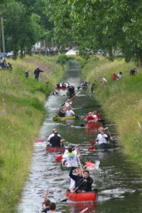 Unnerwegens auf dem Kanal